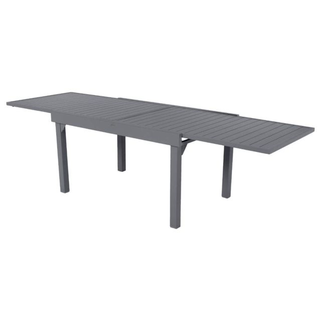 HESPERIDE - Table extensible composite Piazza 6 10 places Anthracite ... 5f42ce0b21ff