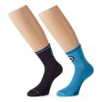 Assos - Chaussettes MilleSock_Evo7 bleu et noir 2 paires