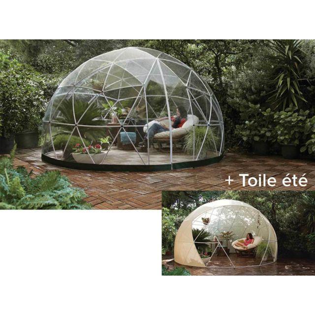 JARDIDECO - Abri de jardin Garden Igloo Hiver + couverture été ...