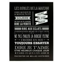 """Paris Prix - Toile Imprimée """"Maison"""" 58x78cm Noir"""