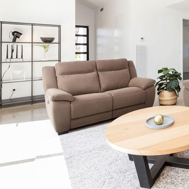 Altobuy Jerez - Canapé Relax Electrique 2 Places Marron