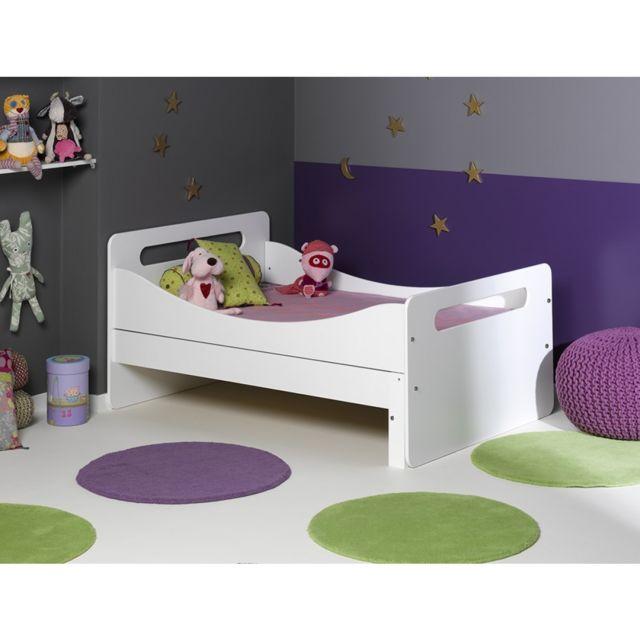 junior provence lit enfant volutif f ro blanc 90x140 200 pas cher achat vente structures. Black Bedroom Furniture Sets. Home Design Ideas