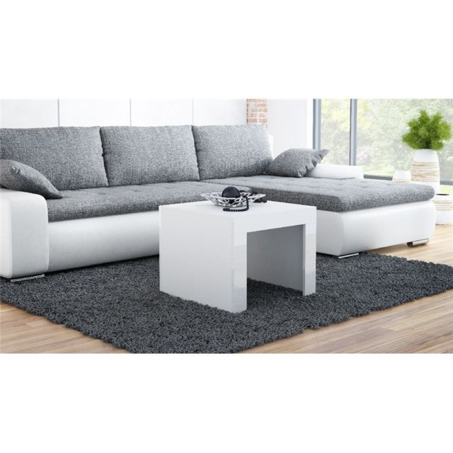 CHLOE DESIGN Table basse design YORI - 60 - Blanc
