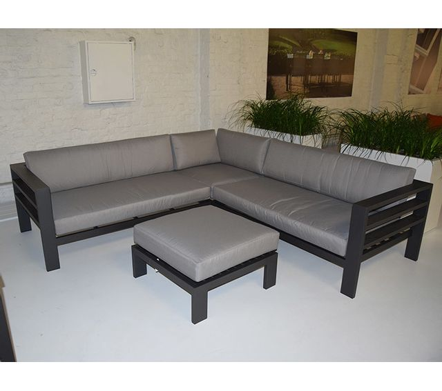 Table chaises anthracite