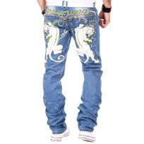 Kosmo Lupo - Jeans fashion Jean homme 053 bleu