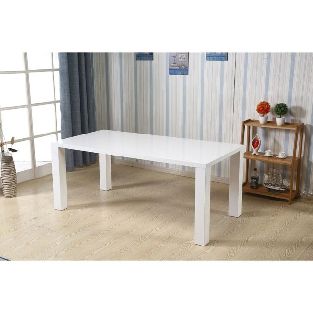 Price Factory - Table Kos blanche laquée Version Xl. Élégante par ...