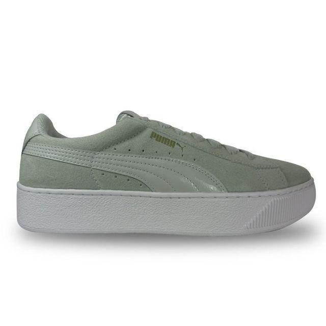 Puma Sneaker vicky platform gris pas cher Achat Vente