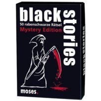 """moses. - Verlag 392 - Jeu De SociÉTÉ """"BLACK Stories, Mystery Edition"""" - Langue : Allemand"""