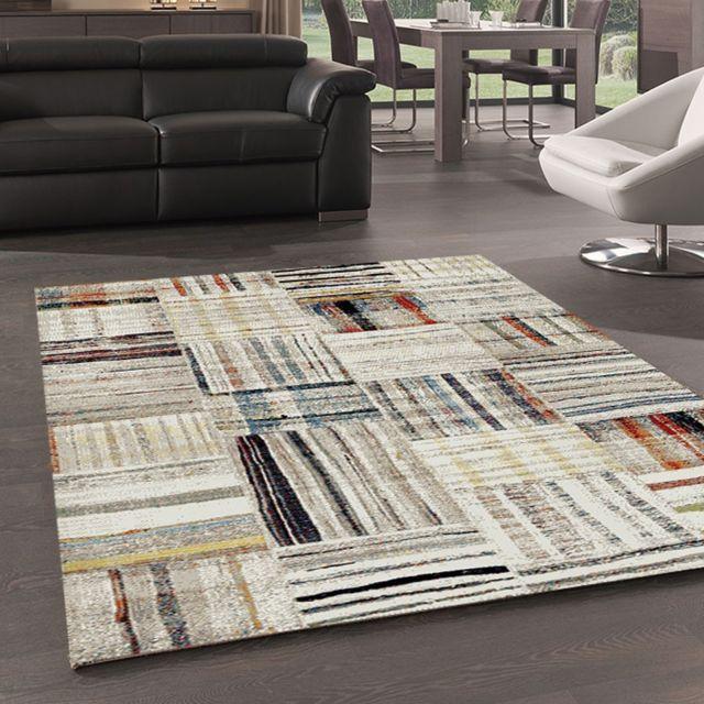 merinos tapis de salon moderne design morocco 831 72 beige 120 170 pas cher achat vente tapis rueducommerce - Achat Tapis Salon
