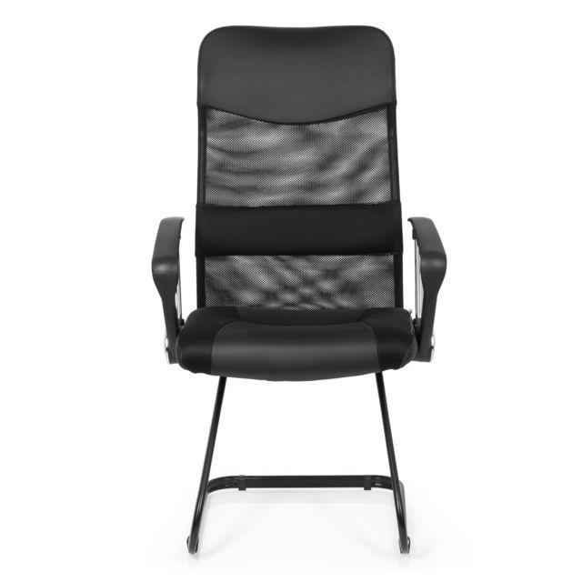 Chaise de conférence Chaise visiteur Arton V noir
