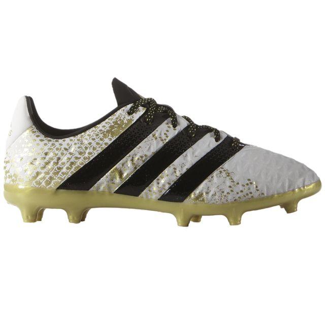 Adidas - Ace 16.1 Fg J Chaussure Garçon - Taille 36 2/3 - Blanc