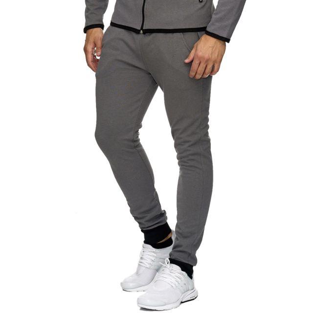 Monsieurmode - Pantalon de jogging homme sport Bas de survêtement 1964 gris 749878d59b9