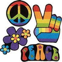 Aptafetes - Écussons à Coudre Hippie x4