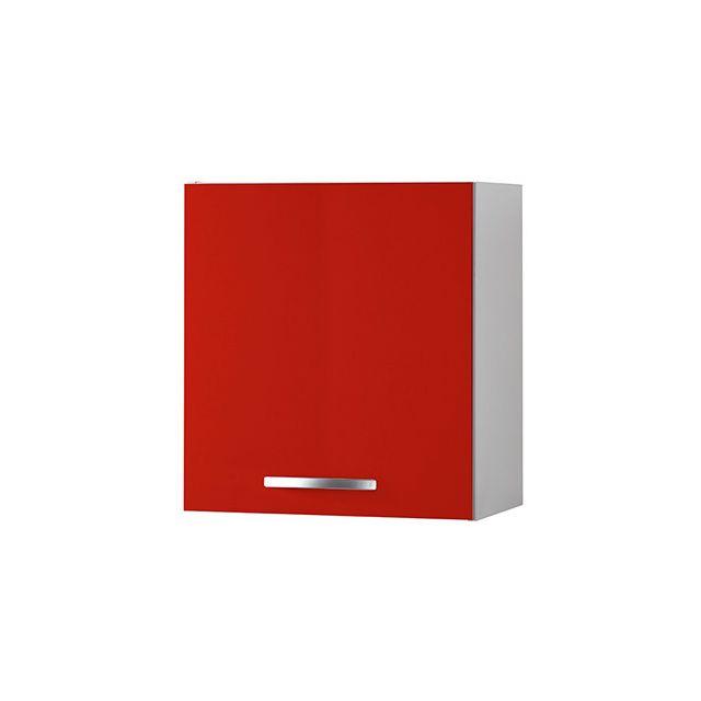 Meuble haut L60xH58xP36cm - rouge
