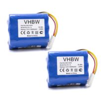 2x vhbw Ni MH Batterie pour Aspirateur Ecovacs Deebot D62