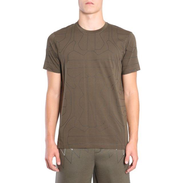 Barrett Blackbarrett By Neil Homme Pxjt1611AX444 Vert Coton T-shirt