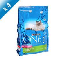 Purina One - One Croquettes a la dinde et au blé spéciales pour chat stérilisé 3kg 4
