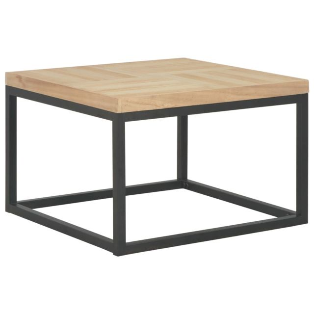 Vidaxl Bois Massif Table Basse 50x50x33,5 cm Table d'Appoint Salon Canapé