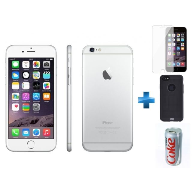 APPLE - iPhone 6 - 64 Go - Argent - Reconditionné + Verre trempe iPhone 6 b40537844f3b