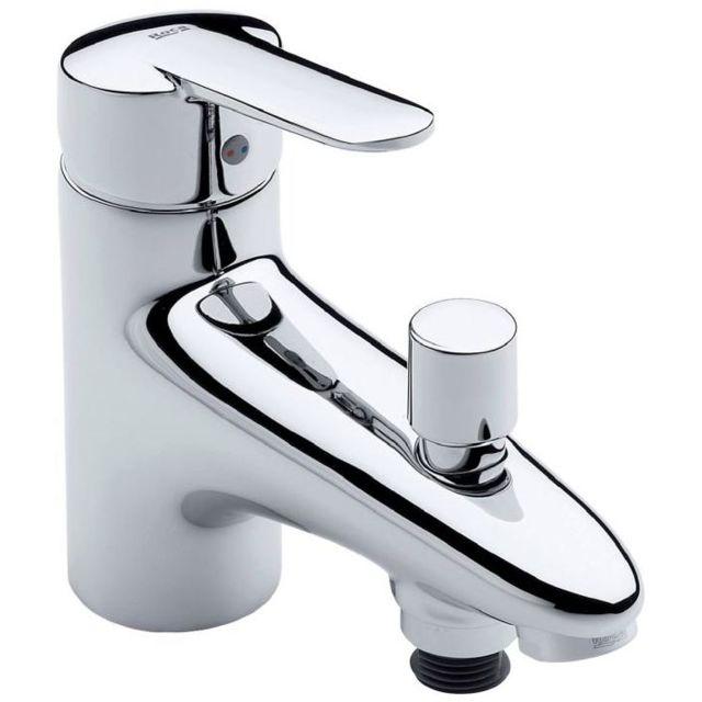 6054ebcbfa5b01 Roca - Mitigeur Bain-douche monotrou Victoria N - pas cher Achat   Vente  Robinet de lavabo - RueDuCommerce