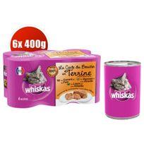 Whiskas - Boîtes La Carte du Boucher en Terrine pour Chat - 6x400g