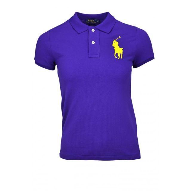 Ralph Lauren - Polo manches courtes Big Poney violet pour femme XS - pas  cher Achat   Vente Polo femme - RueDuCommerce 3b5f464dc7eb