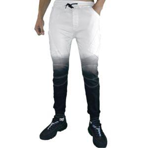 autre en solde john h jogger pant homme p7680 degrade skinny fit blanc pas cher. Black Bedroom Furniture Sets. Home Design Ideas