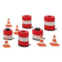 Siku - Circuit de voiture : Accessoires piles de pneus et pylônes