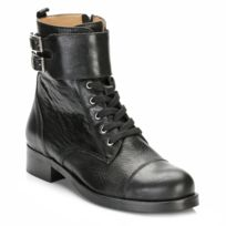 Tower Footwear - Tower Womens Black Leather Ankle Boots-EU 38