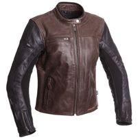 Segura - blouson moto cuir femme Lady Nova vintage toutes saisons marron-noir Scb1163 T5
