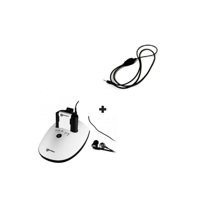 Geemarc Casque Tv sans fil Cl7350 Opticlip + un Collier magnétique