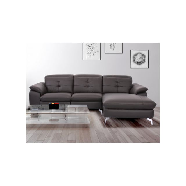 marque generique canap d 39 angle relax lectrique en cuir de buffle lismore chocolat angle. Black Bedroom Furniture Sets. Home Design Ideas