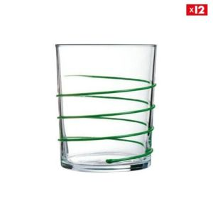 luminarc lot de 12 verres gummy vert gummy pas cher achat vente service de verres. Black Bedroom Furniture Sets. Home Design Ideas