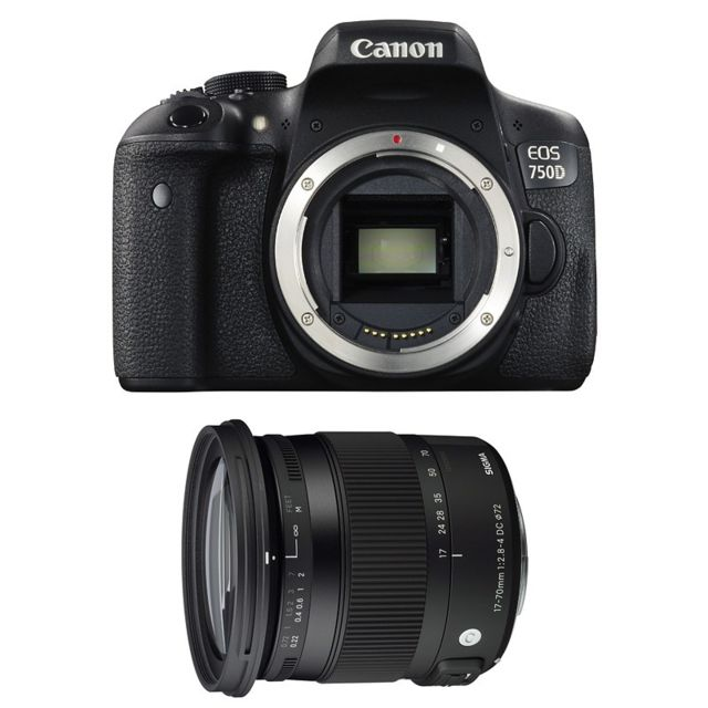 Canon Eos 750D + Sigma 17-70mm F2.8-4 Dc Macro Os Hsm Contemporary Garanti 3 ans