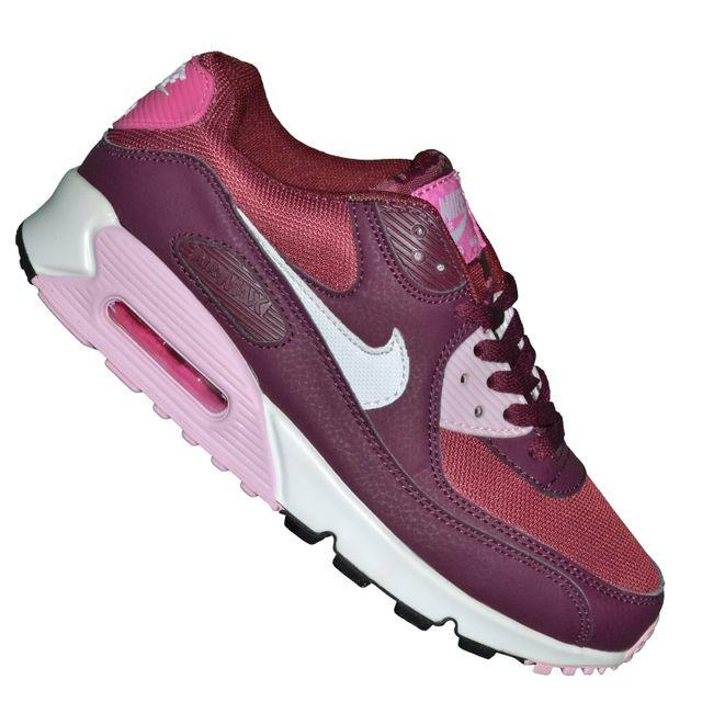 check out fc574 a27f3 Nike - Basket - Femme - Air Max 90 214 - Pourpre Rose - pas cher Achat    Vente Baskets femme - RueDuCommerce