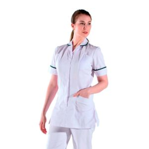 mylookpro blouse m dicale blanche et verte femme blanche et noir pas cher achat vente. Black Bedroom Furniture Sets. Home Design Ideas