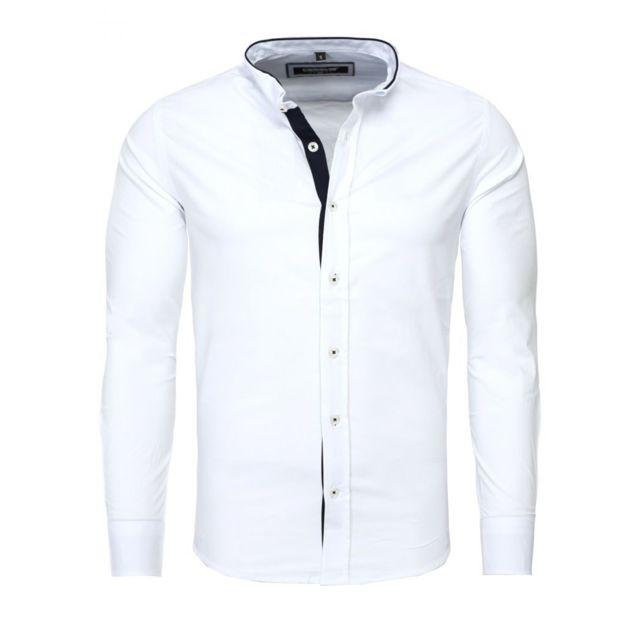 3964bdd6354c Carisma - Chemise italienne blanche - pas cher Achat   Vente Chemise homme  - RueDuCommerce