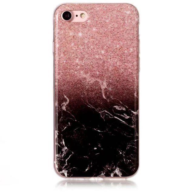 coque iphone 7 rose marbre