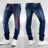 Sixth June - Jean homme Straight Fit Usa en bleu