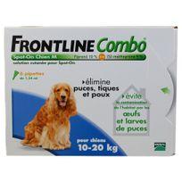 Frontline - Combo - Pipettes Antiparasitaire pour Chien de 10 à 20Kg - 6x1,34ml