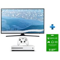 TV LED 55 4K UHD Smart Tv + Console Xbox One S 500go + Abo Xbox One Live Gold 12 mois