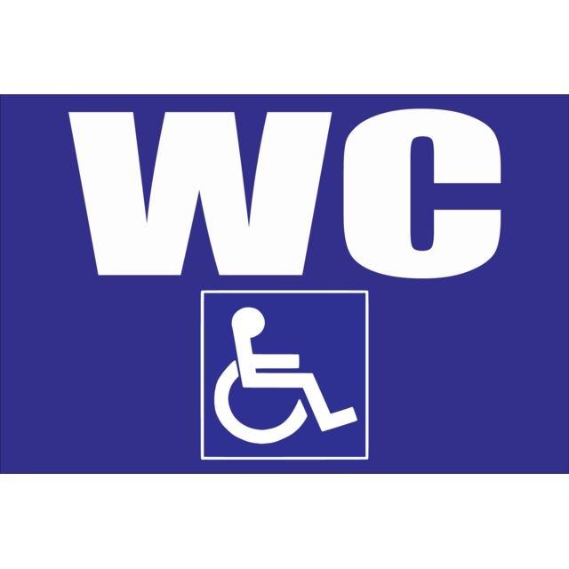 Protection Anti-UV Double face au dos Toilettes WC Mixte et Handicap/é Panneau Dimensions 250 x 250 mm Plastique rigide PVC 1,5 mm