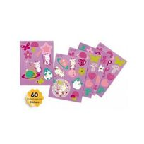 Pabobo - Stickers Phosphorescent Rose Girafe