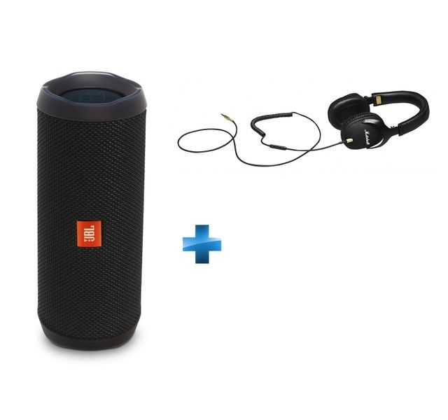 jbl enceinte bluetooth flip 4 noire casque filaire noir monitor pas cher achat vente. Black Bedroom Furniture Sets. Home Design Ideas