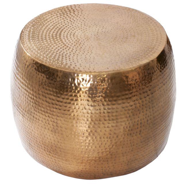 COMFORIUM Table basse rond 60 cm en aluminium coloris cuivré