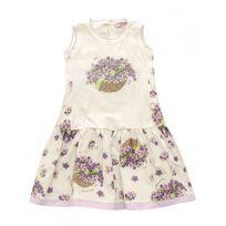 Monnalisa - Robe sans manche à fleurs violette