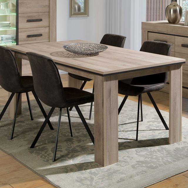 Nouvomeuble Table 180 cm couleur chêne clair Winona
