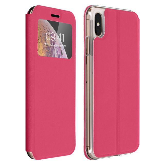 coque apple silicone rose iphone xs