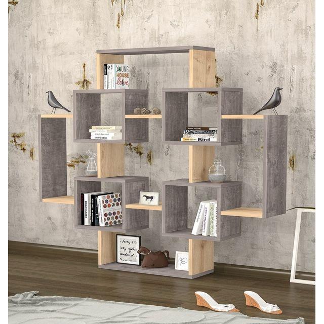 homense etagere bibliotheque murale pour plante et. Black Bedroom Furniture Sets. Home Design Ideas
