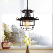 Lampe suspendue Luminaire Salon Moderne Minimaliste Créativité Créatrice  Lustre Suspension En Fer Forgé